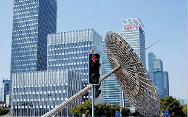 上海世纪大道信号灯
